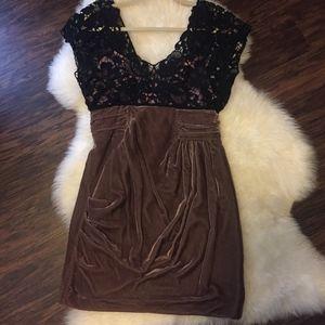 ASOS Premium Velvet and Lace Cocktail Dress
